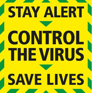 Covid19 Control the virus, stay alert, save lives